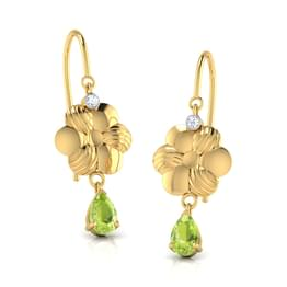 Floral Peridot Earrings