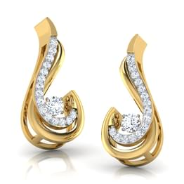 Martha Heartbeat Diamond Stud Earrings