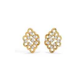 Sparkle Lattice Stud Earrings