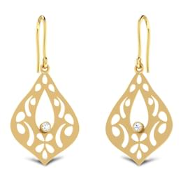 Florid Tear-drop Earrings