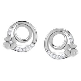 Circo Dame Platinum Earrings