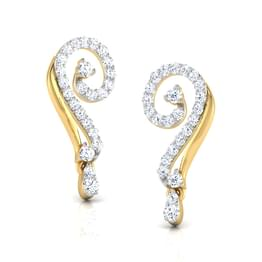 Twirl Linked Stud Earrings