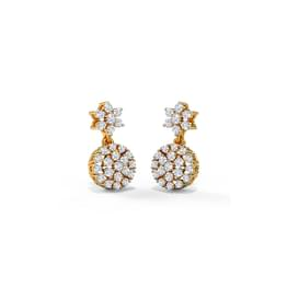 Celinda Cluster Drop Earrings