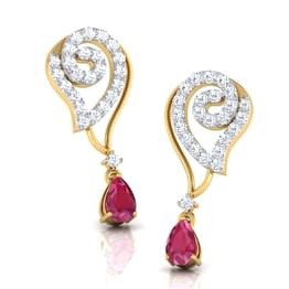 Alma Ruby Drop Earrings
