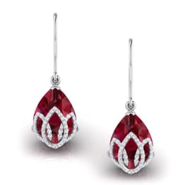 Lotus Bloom Drop Earrings