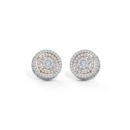 Ripple Cluster Stud Earrings