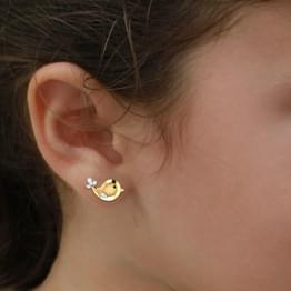 Mini Fish Stud Earrings