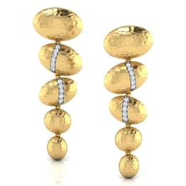 51d24c1ad49 Bevan Hammered Drop Earrings Jewellery India Online - CaratLane.com