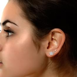 Double Flora Ear Cuffs
