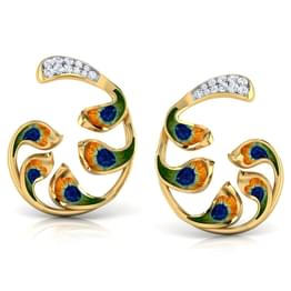 Enchanta Peacock Ear Cuffs