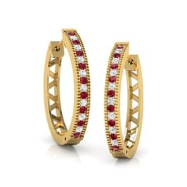 Enchant Linear Hoop Earrings