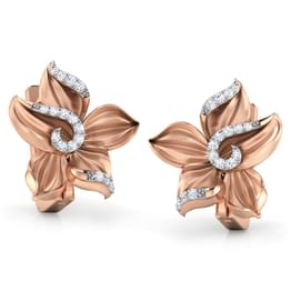 Crocus Flower Stud Earrings