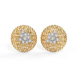Ber Leaf Stud Earrings