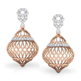 Ellipse Dome Jhumkas