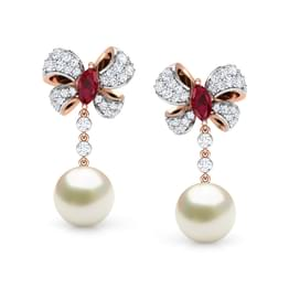 Dazzle Pearl Drop Earrings