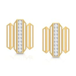 Eros Zigzag Stud Earrings