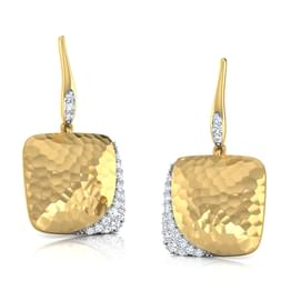 Grazia Hammered Drop Earrings