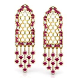 Hawa Lattice Drop Earrings