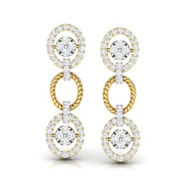 Modish Halo Drop Earrings