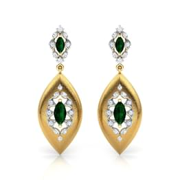 Marquise Brocade Drop Earrings