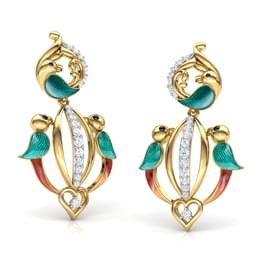 Falak Parrot Drop Earrings