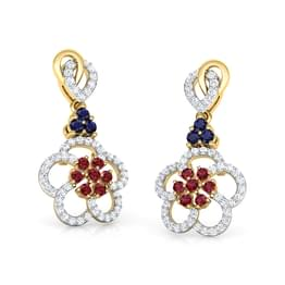 Saanvi Vibrant Drop Earrings