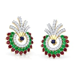 Hrishita Vibrant Stud Earrings