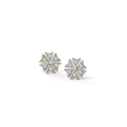 Ornate Floral Stud Earrings