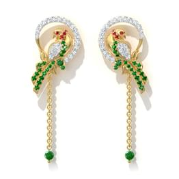Grandiose Parrot Drop Earrings