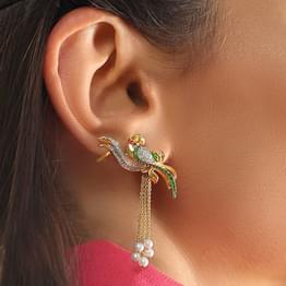 Iconic Parrot Drop Earrings