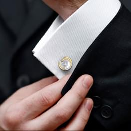 Carl Gold and Silver Cufflinks