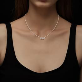 Intertwined Infinity Diamond Necklace