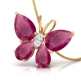 Butterfly Ruby Pendant