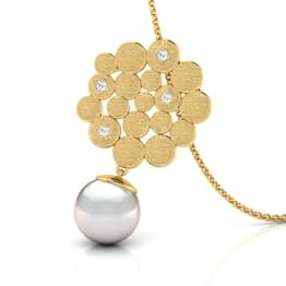 Honeycomb Pearl Drop Pendant