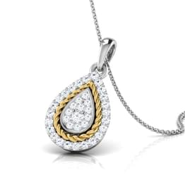 Olivia Filigree Pear Pendant