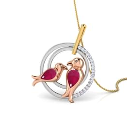 Encircled LoveBirds Pendant