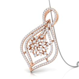 Cluster in Drop Diamond Pendant