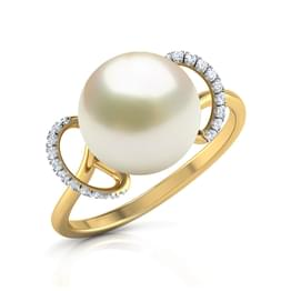 Rising Sun Pearl Ring