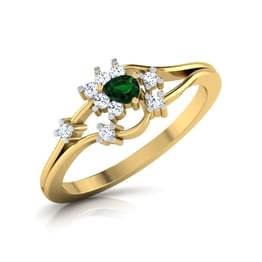 Tamrachuda Oval Emerald Ring