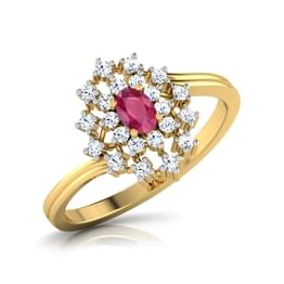 Kapittha Oval Ruby Ring