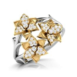 Aster Yellow Bouquet Ring