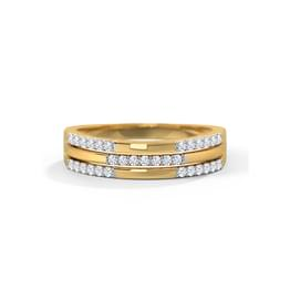 Sally 3 Row Diamond Band