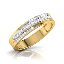 Leticia 3 Row Diamond Band