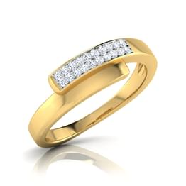 Olinda Overlapped Diamond Band