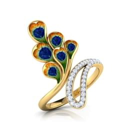 Crown Peacock Ring