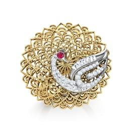 Peacock Trellis Ring