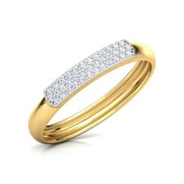 Striped Diamond Band