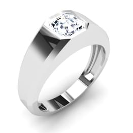 Luxe Solitaire Ring Mount for Him
