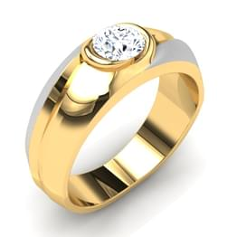 Turia Solitaire Ring Mount for Him