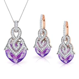 Heartthrob Amethyst Matching Set